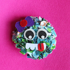 Kids eco-friendly crafting UK rag rug monster