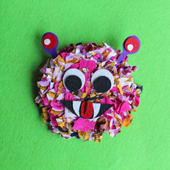 Pink rag rug monster children's craft kit uk