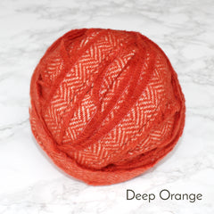 Ragged Life Rag Rug Blanket Yarn 100% Wool for Rag Rugging Crochet in Strips in Deep Orange