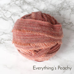 Ragged Life Rag Rug Blanket Yarn 100% Wool for Rag Rugging Crochet in Strips in Everything's Peachy Peach Pink