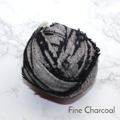 Ragged Life Rag Rug Blanket Yarn 100% Wool for Rag Rugging Crochet in Strips in Fine Charcoal