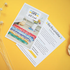 Ragged Life Rainbow rag rug full day gift card