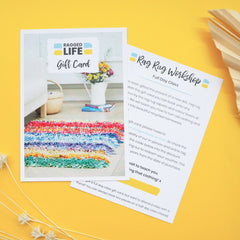 Ragged Life Full Day Rag Rug Workshop Gift Card