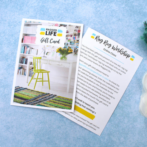 Ragged Life Online Rag Rug Craft Workshop Gift Card