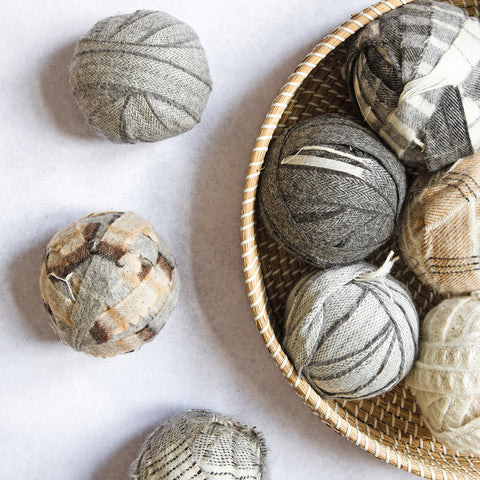 Ragged Life cream and grey neutral blanket yarn balls