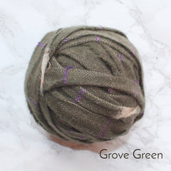 Ragged Life Rag Rug Blanket Yarn 100% Wool for Rag Rugging Crochet in Strips in Grove Green