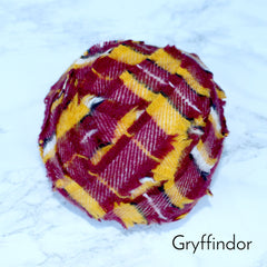 Ragged Life Rag Rug Blanket Yarn 100% Wool for Rag Rugging Crochet in Strips in Gryffindor Burgundy and gold