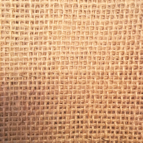 Hessian / burlap close up showing the 10 HPI weave perfect for rag rugging