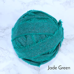Ragged Life Rag Rug Blanket Yarn 100% Wool for Rag Rugging Crochet in Strips in Jade Green Plain