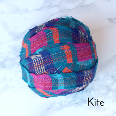 Ragged Life Rag Rug Blanket Yarn 100% Wool for Rag Rugging Crochet in Strips in Kite Blue, Turquoise, Pink and Orange