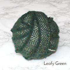 Ragged Life Rag Rug Blanket Yarn 100% Wool for Rag Rugging Crochet in Strips in Leafy Green