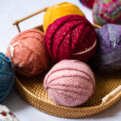 Craft pack of Woollen blanket ends for extreme knitting, rag rug making, crochet
