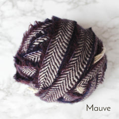 Ragged Life Rag Rug Blanket Yarn 100% Wool for Rag Rugging Crochet in Strips in Mauve Purple
