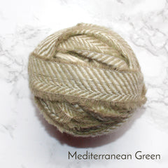 Ragged Life Rag Rug Blanket Yarn 100% Wool for Rag Rugging Crochet in Strips in Mediterranean Green