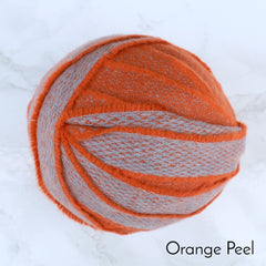 Ragged Life Rag Rug Blanket Yarn 100% Wool for Rag Rugging Crochet in Strips in Orange and Grey Mixed Colours