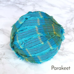 Ragged Life Rag Rug Blanket Yarn 100% Wool for Rag Rugging Crochet in Strips in Blue and Green mixed colours