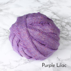 Ragged Life Rag Rug Blanket Yarn 100% Wool for Rag Rugging Crochet in Strips in Purple Lilac