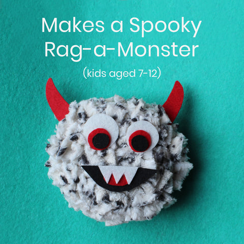 Ragged Life Rag Rug Kids Craft Kit for Monster Making - Sustainable