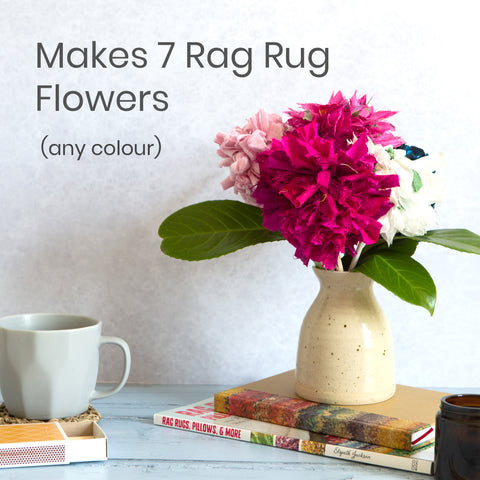 Ragged Life Rag Rug Bouquet Kit to Make 7 everlasting fabric flowers