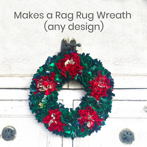 Ragged Life Christmas Rag Rug Wreath Kit