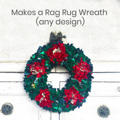 Make a rag rug wreath with the Ragged Life rag rug wreath kit