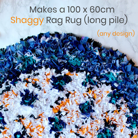 Ragged Life Shaggy Rag Rug Kit with Spring Tool and Cutting Gauge