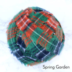 Ragged Life Rag Rug Blanket Yarn 100% Wool for Rag Rugging Crochet in Strips in Green Red Blue White Tartan