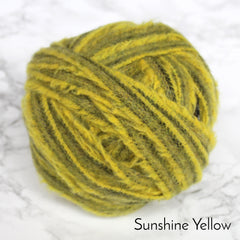 Ragged Life Rag Rug Blanket Yarn 100% Wool for Rag Rugging Crochet in Strips in Bright sunshine yellow
