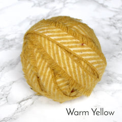 Ragged Life Rag Rug Blanket Yarn 100% Wool for Rag Rugging Crochet in Strips in Warm Yellow