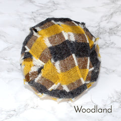 Ragged Life Rag Rug Blanket Yarn 100% Wool for Rag Rugging Crochet in Strips in Woodland Yellow