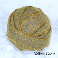 Ragged Life Rag Rug Blanket Yarn 100% Wool for Rag Rugging Crochet in Strips in Yellow Grain