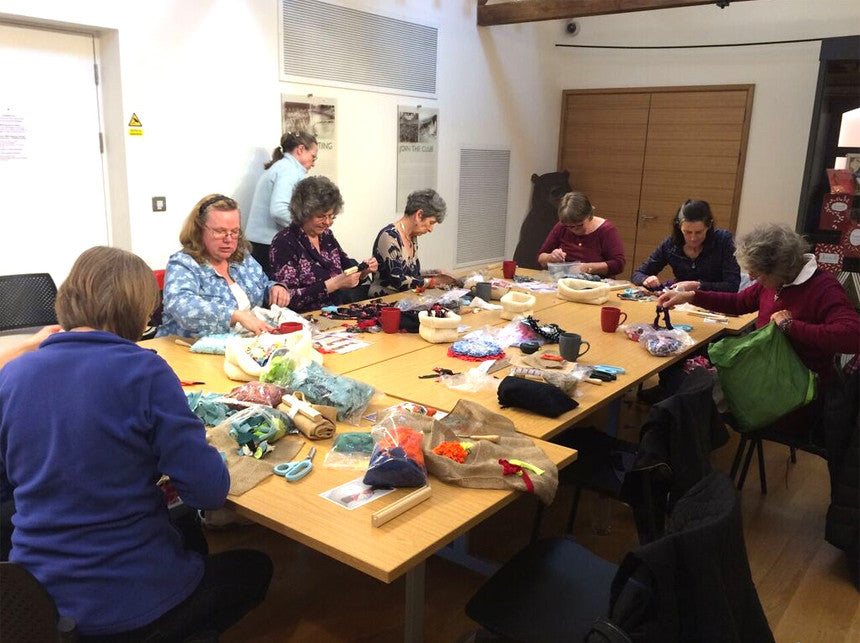 A Full Day Rag Rug Workshop underway