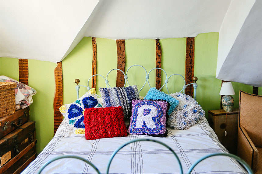 Rag rug cushions make a great starter project!