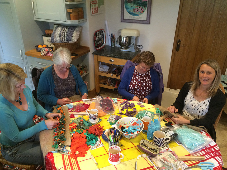 Rag rug workshop in Hertfordshire