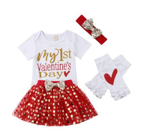 Girls 1st Valentine's Day Outfit
