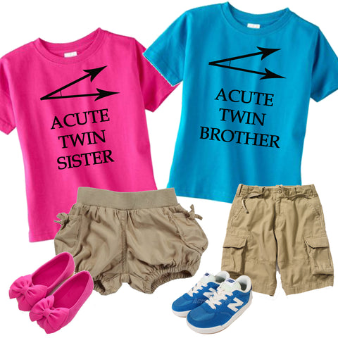 Boy Girl Twin Outfit--ACUTE TWIN Shirt Set - In The Limelight