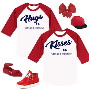 Matching Twin Outfit - Hugs & Kisses Valentine's Day Set - In The Limelight