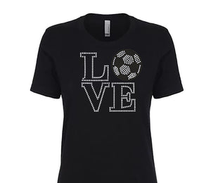 Rhinestone Love Soccer Tee - In The Limelight