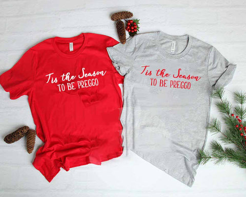 Tis The Season Christmas Pregnancy Announcement Shirt