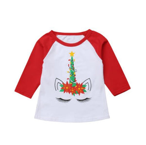 Unicorn Christmas Tree Shirt - In The Limelight