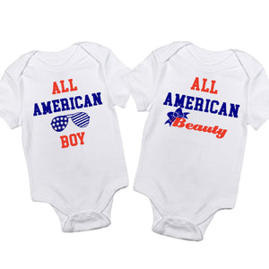 Boy Girl Twin Outfit-All American Onesie set - In The Limelight