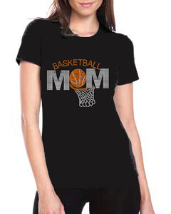 Basketball Mom Rhinestone Shirt