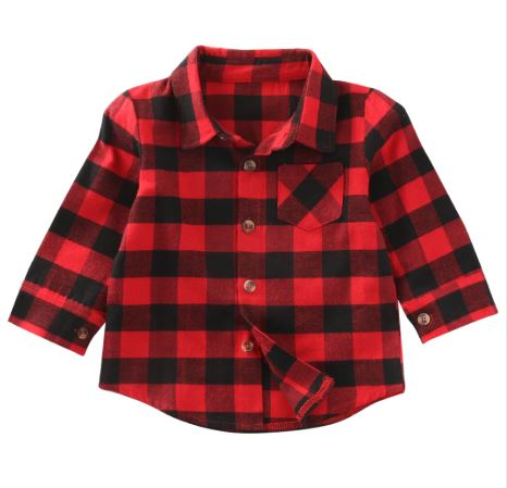 Boys Buffalo Plaid Button Down Shirt