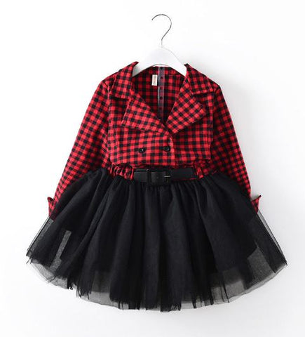 Buffalo Plaid Tutu Dress - In The Limelight