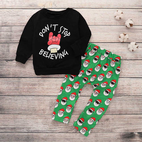 Don't Stop Believing Christmas Outfit