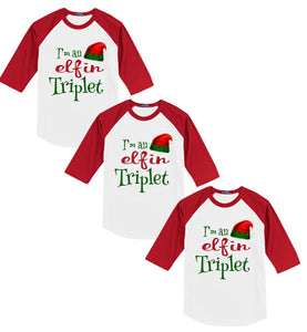 I'm An Elfin Triplet Christmas Shirt - In The Limelight