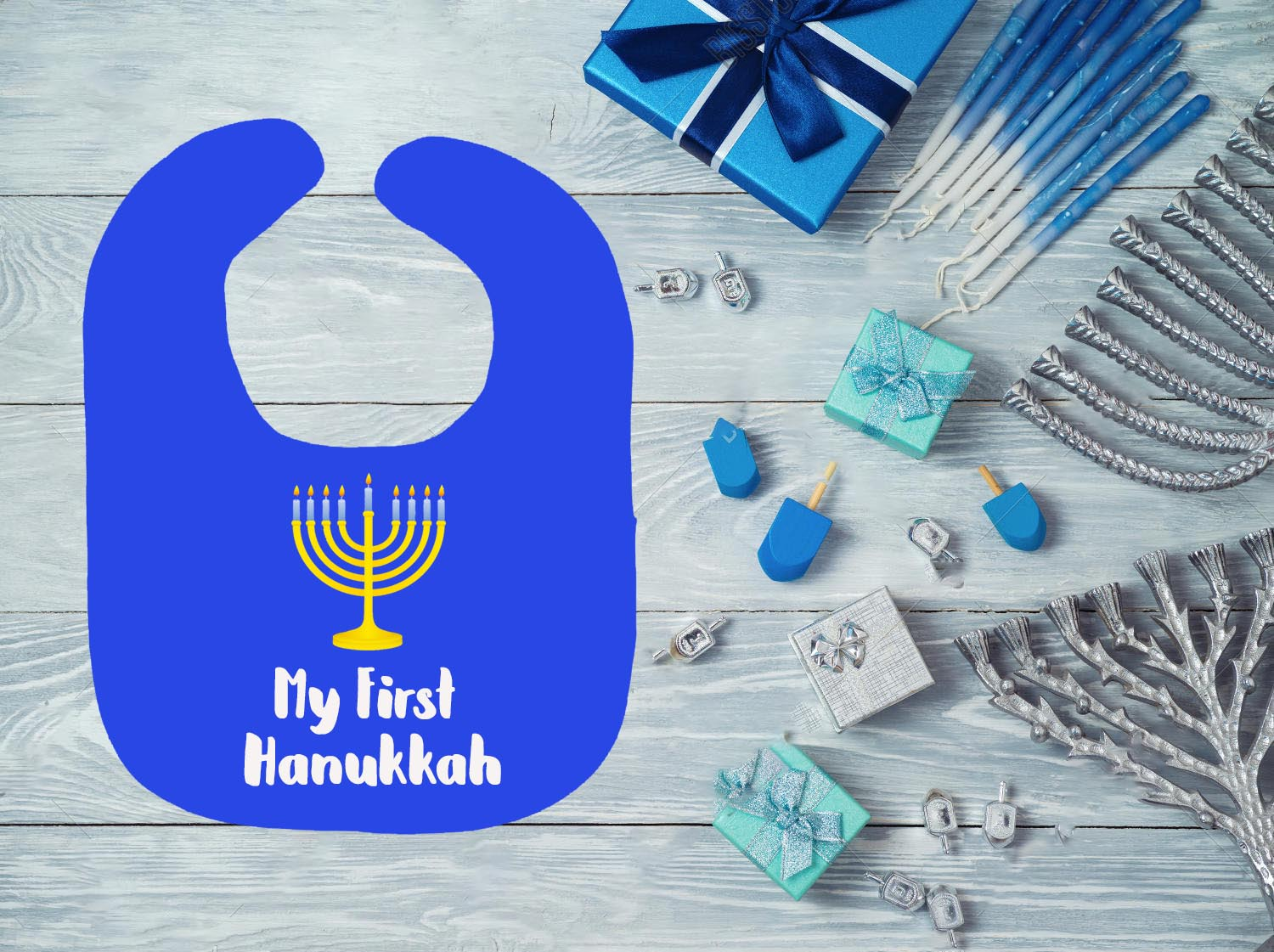 My First Hanukkah Bib - In The Limelight