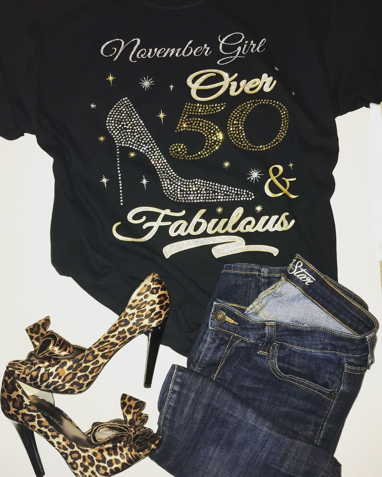 Over 50 and Fabulous Birthday Shirt - In The Limelight