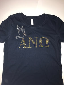 Rhinestone Greek Letter With Mascot Tee - In The Limelight