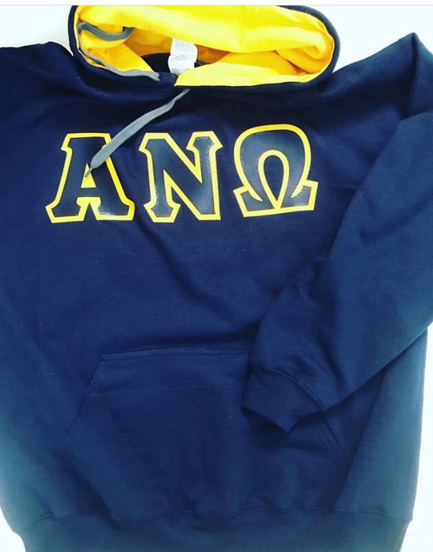 Greek Letter Two-Tone Hoodie - In The Limelight